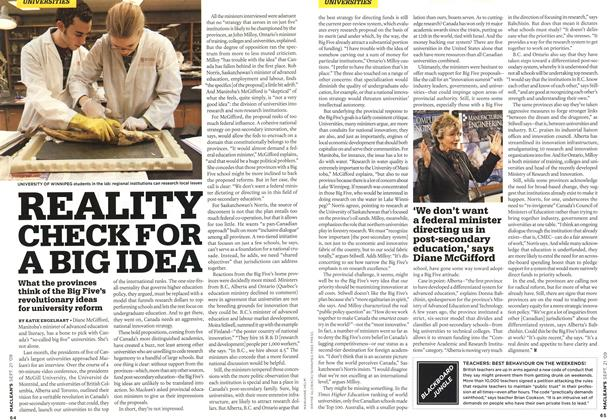 Article Preview: REALITY CHECK FOR A BIG IDEA, SEPT. 21st 2009 2009 | Maclean's