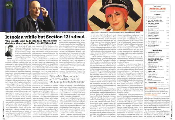 Article Preview: It took a while but Section 13 is dead, SEPT. 21st 2009 2009 | Maclean's