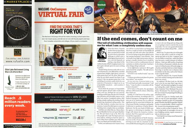Article Preview: If the end comes, don't count on me, SEPT. 21st 2009 2009 | Maclean's