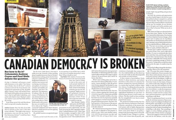 Article Preview: CANADIAN DEMOCRACY IS BROKEN, SEPT. 28th 2009 2009 | Maclean's