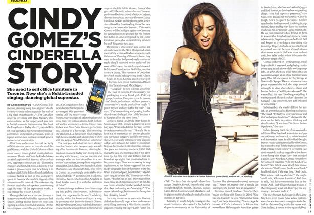 Article Preview: CINDY GOMEZ'S CINDERELLA STORY, SEPT. 28th 2009 2009 | Maclean's
