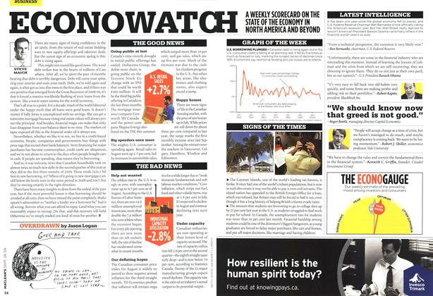Article Preview: ECONOWATCH, SEPT. 28th 2009 2009 | Maclean's