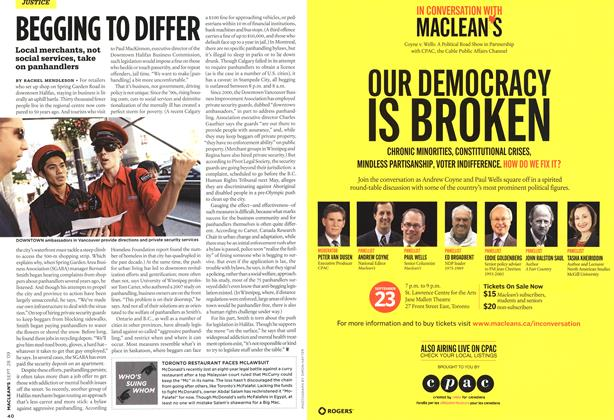 Article Preview: BEGGING TO DIFFER, SEPT. 28th 2009 2009 | Maclean's