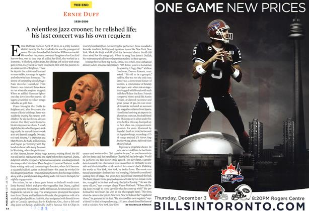 Article Preview: ERNIE DUFF 1936-2009, SEPT. 28th 2009 2009 | Maclean's