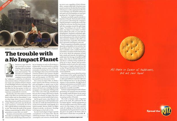 Article Preview: The trouble with a No Impact Planet, SEPT. 28th 2009 2009 | Maclean's