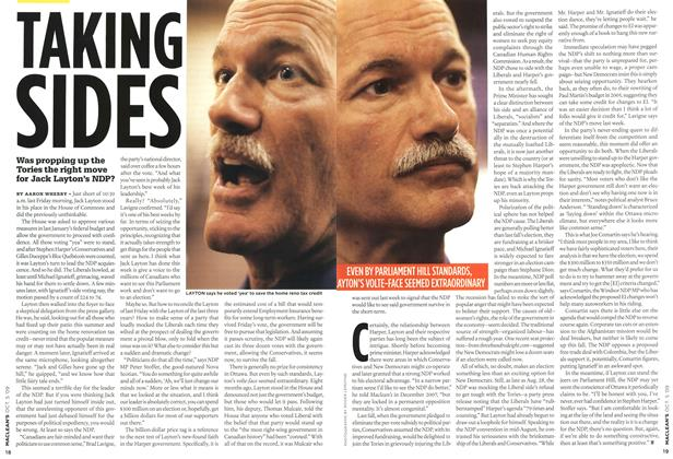 Article Preview: TAKING SIDES, OCT. 5th 2009 2009 | Maclean's