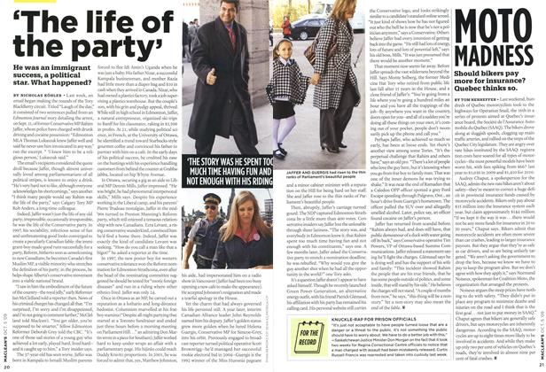 Article Preview: 'The life of the party', OCT. 5th 2009 2009 | Maclean's