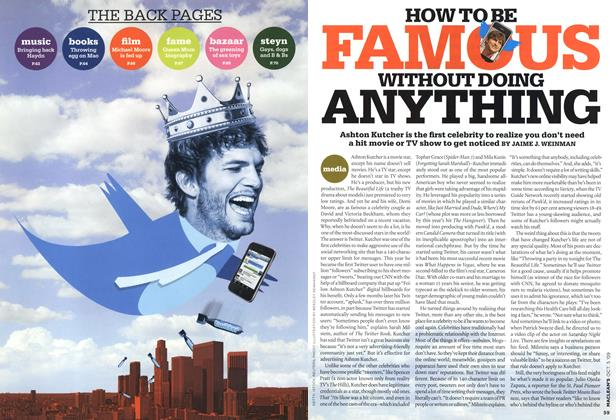 Article Preview: HOW TO BE FAMOUS WITHOUT DOING ANYTHING, OCT. 5th 2009 2009 | Maclean's