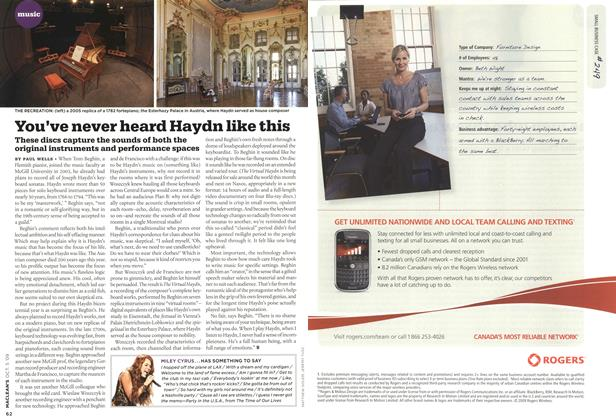 Article Preview: You've never heard Haydn like this, OCT. 5th 2009 2009 | Maclean's