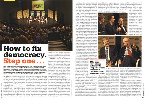 Article Preview: How to fix democracy. Step one..., OCT. 12th 2009 2009 | Maclean's