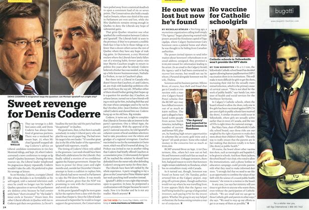 Article Preview: He once was lost but now he's found, OCT. 12th 2009 2009 | Maclean's