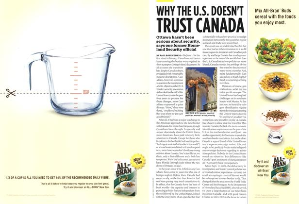 Article Preview: WHY THE U.S. DOESN'T TRUST CANADA, OCT. 12th 2009 2009 | Maclean's