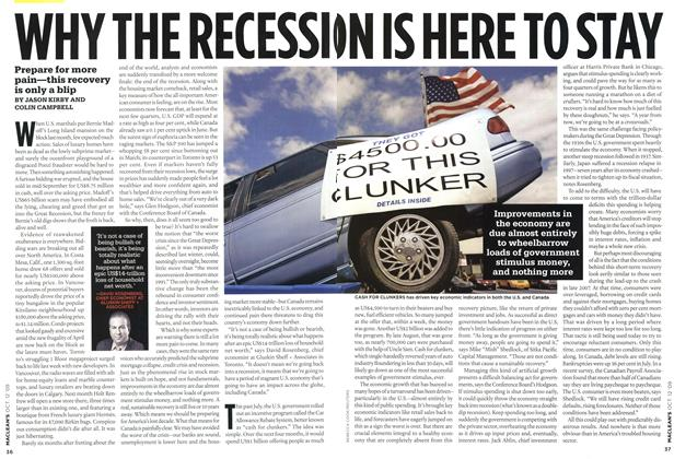 Article Preview: WHY THE RECESSION IS HERE TO STAY, OCT. 12th 2009 2009 | Maclean's