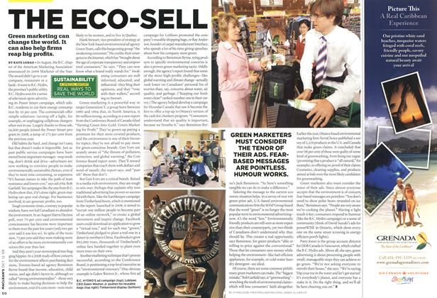 Article Preview: THE ECO SELL, OCT. 12th 2009 2009 | Maclean's