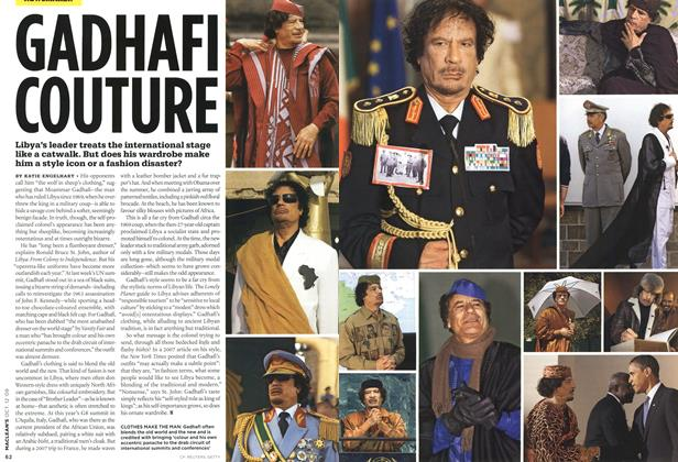 Article Preview: GADHAFI COUTURE, OCT. 12th 2009 2009 | Maclean's