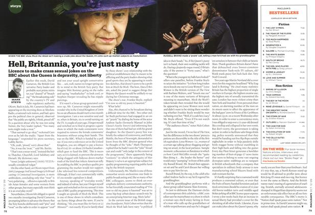 Article Preview: Hell, Britannia, you're just nasty, OCT. 12th 2009 2009 | Maclean's