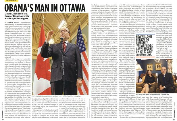 Article Preview: OBAMA'S MAN IN OTTAWA, OCT. 19th 2009 2009 | Maclean's