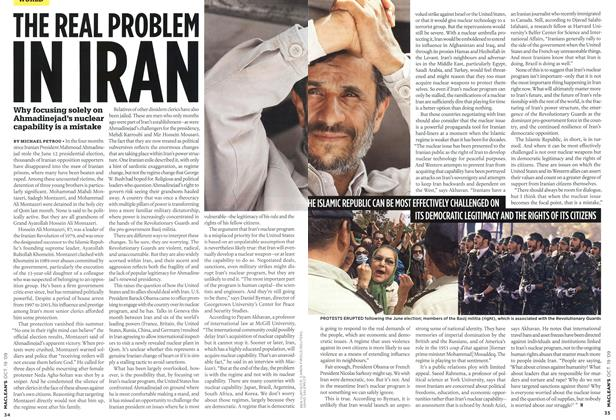 Article Preview: THE REAL PROBLEM IN IRAN, OCT. 19th 2009 2009 | Maclean's