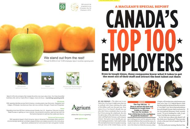 Article Preview: CANADA'S TOP 100 EMPLOYERS, OCT. 19th 2009 2009 | Maclean's