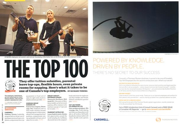 Article Preview: THE TOP 100, OCT. 19th 2009 2009 | Maclean's