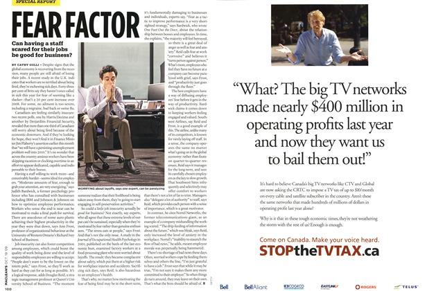 Article Preview: FEAR FACTOR, OCT. 19th 2009 2009 | Maclean's