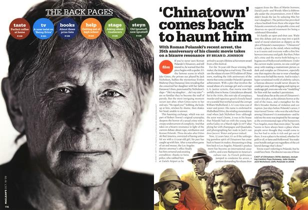 Article Preview: 'Chinatown' 'Chinatown' comes back to haunt him, OCT. 19th 2009 2009 | Maclean's