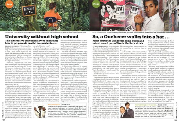 Article Preview: So, a Quebecer walks into a bar..., OCT. 19th 2009 2009 | Maclean's