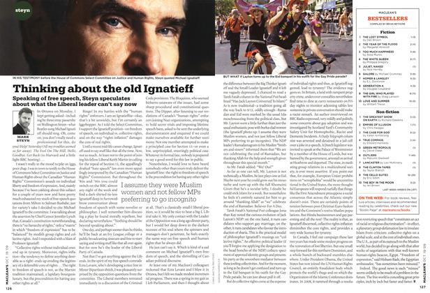 Article Preview: Thinking about the old Ignatieff, OCT. 19th 2009 2009 | Maclean's