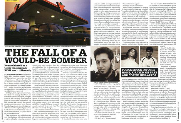 Article Preview: THE FALL OF A WOULD-BE BOMBER, OCT. 26TH 2009 2009 | Maclean's