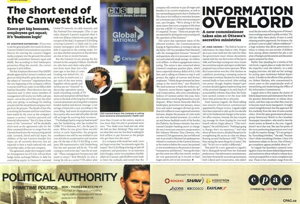 Article Preview: The short end of the Canwest stick, OCT. 26TH 2009 2009 | Maclean's