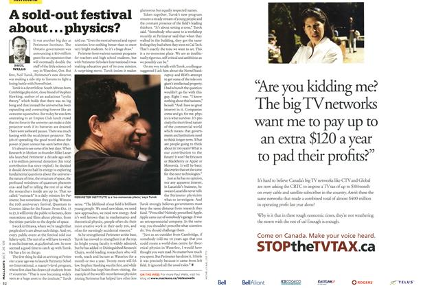 Article Preview: A sold-out festival about...physics?, OCT. 26TH 2009 2009 | Maclean's