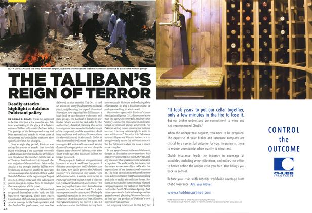 Article Preview: THE TALIBAN'S REIGN OF TERROR, OCT. 26TH 2009 2009 | Maclean's