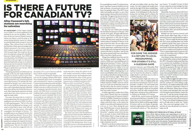Article Preview: IS THERE A FUTURE FOR CANADIAN TV?, OCT. 26TH 2009 2009 | Maclean's