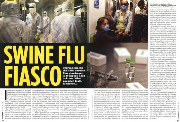 Article Preview: SWINE FLU FIASCO, OCT. 26TH 2009 2009 | Maclean's