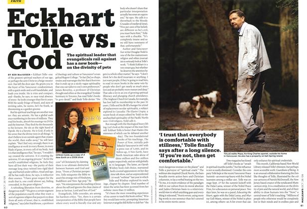 Article Preview: Eckhart Tolle vs. God, OCT. 26TH 2009 2009 | Maclean's