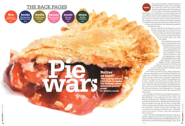 Article Preview: Pie Wars, OCT. 26TH 2009 2009 | Maclean's