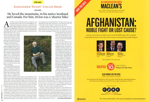 Article Preview: ALEXANDER 'SANDY' COLLIE SHAW 1944-2009, OCT. 26TH 2009 2009 | Maclean's