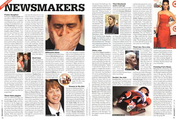 Article Preview: NEWSMAKERS, OCT. 26TH 2009 2009 | Maclean's