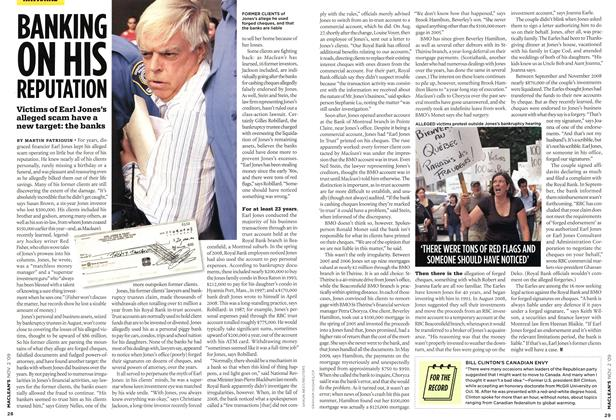 Article Preview: BANKING ON HIS REPUTATION, NOV. 2nd 2009 2009 | Maclean's