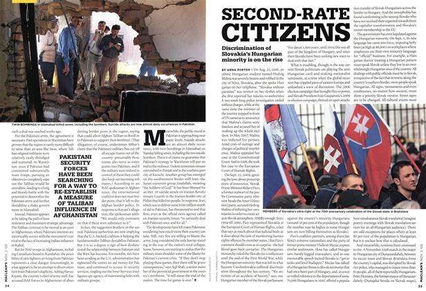 Article Preview: SECOND-RATE CITIZENS, NOV. 2nd 2009 2009 | Maclean's