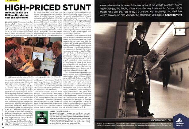Article Preview: HIGH-PRICED STUNT, NOV. 2nd 2009 2009 | Maclean's