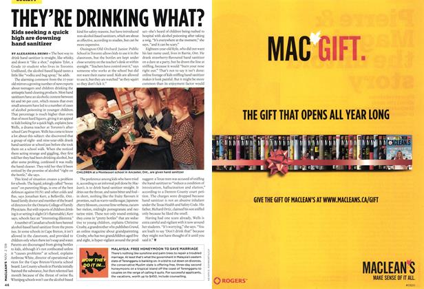 Article Preview: THEY'RE DRINKING WHAT?, NOV. 2nd 2009 2009 | Maclean's