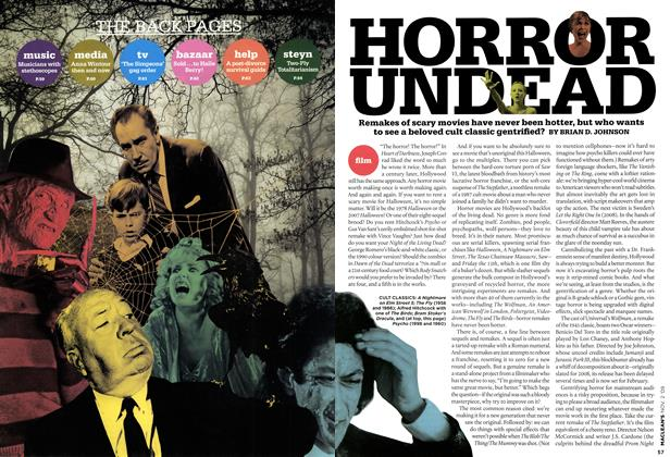 Article Preview: HORROR UNDEAD, NOV. 2nd 2009 2009 | Maclean's