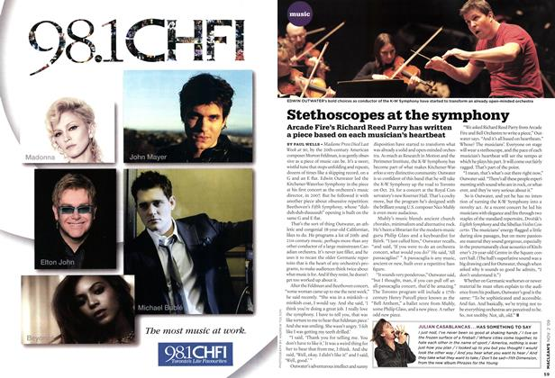 Article Preview: Stethoscopes at the symphony, NOV. 2nd 2009 2009 | Maclean's