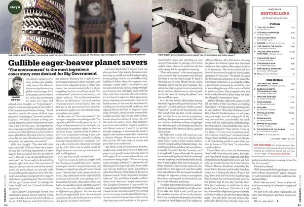 Article Preview: Gullible eager-beaver planet savers, NOV. 2nd 2009 2009 | Maclean's