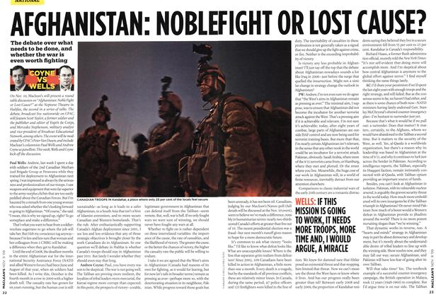 Article Preview: AFGHANISTAN: NOBEL FIGHT LOST CAUSE?, NOV. 9th 2009 2009 | Maclean's