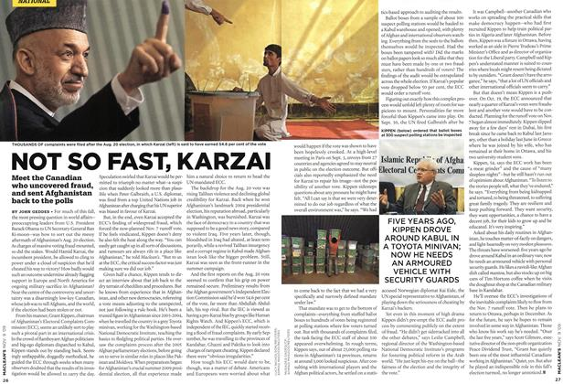Article Preview: NOT SO FAST, KARZAI, NOV. 9th 2009 2009 | Maclean's