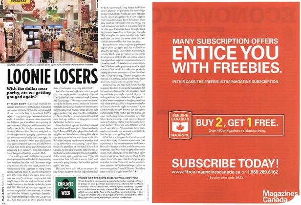 Article Preview: LOONIE LOSERS, NOV. 9th 2009 2009 | Maclean's