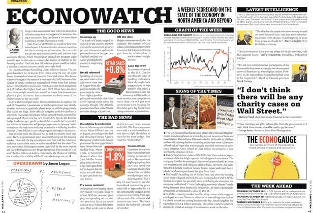 Article Preview: ECONOWATCH, NOV. 9th 2009 2009 | Maclean's