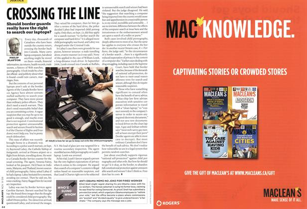 Article Preview: CROSSING THE LINE, NOV. 9th 2009 2009 | Maclean's